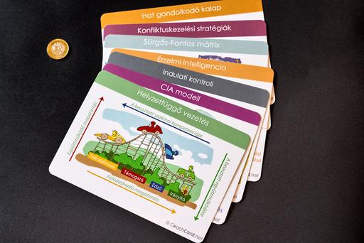 Kis és nagy méretü fejlesztő kártyáink a leggyakrabban használt modelleket ábrázolják a fejlesztési folyamat során illetve szociális kompetenciák mentén. - 1024x683 pixel - 1575235 byte