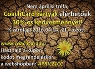 30%-os árkedvezmény a CoachCard kártyákra, kizárólag: 2016.04.14.-21. - 675x491 pixel - 305694 byte